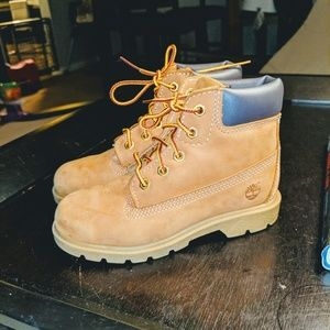 EUC Boys 12 Toddler Timberland Workboots Camel